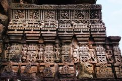 Carving details, Gondeshwar Temple, Sinnar, near Nashik, Maharashtra, India. Carving details, Gondeshwar Temple, Sinnar, near Nashik, Maharashtra state of India stock images