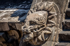Carving details of Quetzalcoatl Pyramid at Teotihuacan Ruins - Mexico City, Mexico Stock Images