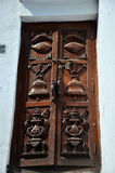 Carving Door nepal Style at Kathmandu Stock Photos