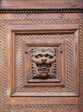 Carving door in old town hall Stock Image