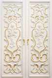 Carving on the door Stock Photography
