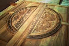 Carving door Stock Images