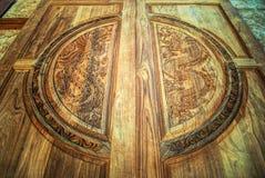 Carving door Stock Photo