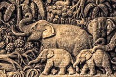 Carving Elephant Stock Photography