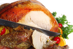 Carving the festive turkey Stock Photography