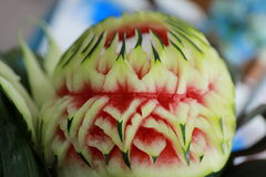 Carving fruit. In Thailand food Royalty Free Stock Photos