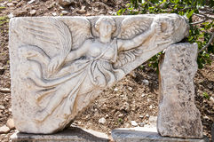 Carving of the Goddess Nike Royalty Free Stock Photos