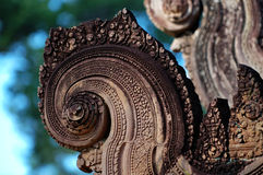 Carving of gopura Royalty Free Stock Images