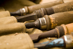 Carving and graving chisels Royalty Free Stock Photo