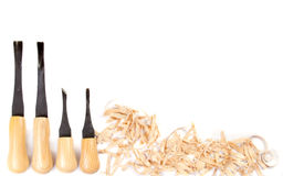 Carving hand tools or chisels Stock Photos