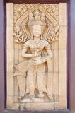 Carving of Hindu god Vishnu standing background. Carving of Hindu god Vishnu standing Stock Image