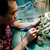 Carving jade artifact Royalty Free Stock Photo