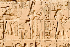 Carving in Karnak temple Stock Image