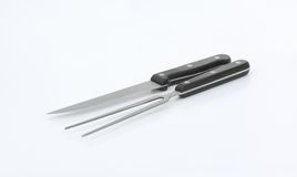 Carving knife and fork Stock Images