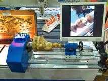 Carving mechine tool in metallex 2014 Royalty Free Stock Photos