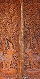 Carving murals thailand Stock Photos