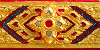 Carving murals thailand Royalty Free Stock Photo