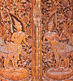 Carving murals thailand Royalty Free Stock Photography