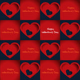 Carving paper for Valentine's day, Seamless pattern heart Royalty Free Stock Photo