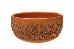 Carving pottery. Carving patterns on pottery Thailand Royalty Free Stock Photos