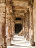 Carving pillars in Qutub Minar in New Delhi, India. Carving pillars in Qutub Minar, UNESCO World Heritage Site in New Delhi, India stock image
