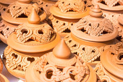 Carving pottery Royalty Free Stock Photos