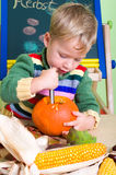 Carving pumpkin Stock Photos