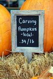 Carving Pumpkins Sale Sign Stock Images
