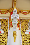 Carving and sculpture guardian thai style at temple Thailand Royalty Free Stock Photos