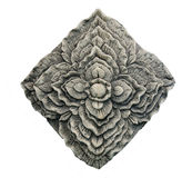 Carving stone of flower Stock Image