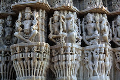 Carving at Sun temple at Ranakpur Royalty Free Stock Image