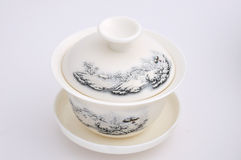 Carving tea cup Royalty Free Stock Images