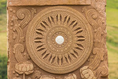 Carving of thai buddhist religion texture style Stock Photos
