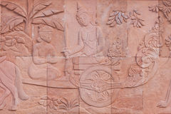 Carving of thai culture Stock Photos