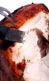 Carving a turkey Stock Photo