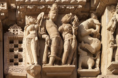 Carving from the Vishnavath Temple, Khajuraho- India Stock Images