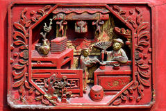 carving wood 免版税库存图片