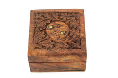 Carving wood box Stock Images