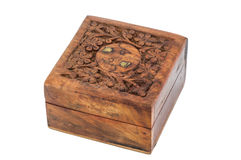 Carving wood box Royalty Free Stock Images