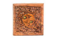 Carving wood box Stock Image