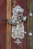 Carving, Wood, Door Knocker, Door stock photos