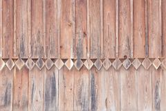 Carving wood, part of the decor. Old wall. Close-up Stock Photos