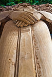 Carving. The wooden carve image of buddha thai style stock photo