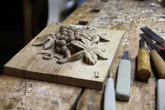 Carving workshop Stock Photos