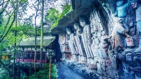 Carvings утеса Dazu стоковые фотографии rf