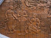 carvings вводят тайскую традиционную древесину в моду стоковые фотографии rf
