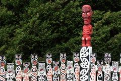 carvings маорийские Стоковое фото RF