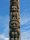 Carvings Поляка Totem стоковое фото rf