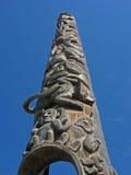 Carvings Поляка Totem стоковые изображения
