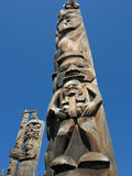 Carvings Поляка Totem стоковые фотографии rf